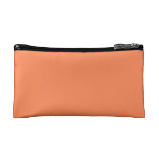 Solid Nectarine Orange Makeup Bag