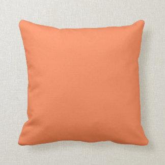 Solid Nectarine Orange Throw Pillows Cushions