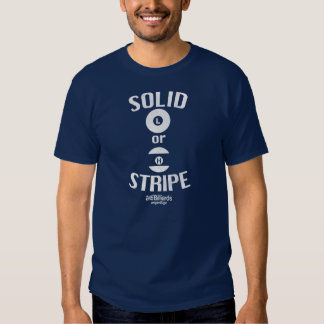 Solid or stripe? tee shirts