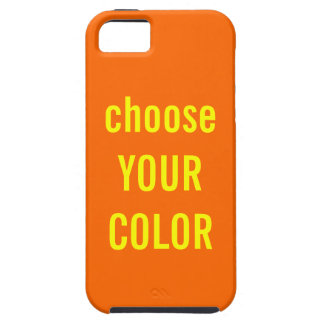 Solid Orange Background Color FF6600 Template iPhone 5 Covers