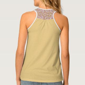 Solid, patterned, Gold, designer activewear tank