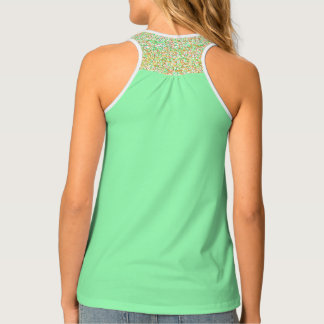 Solid, patterned, gold, pink, bright green, tank tank top