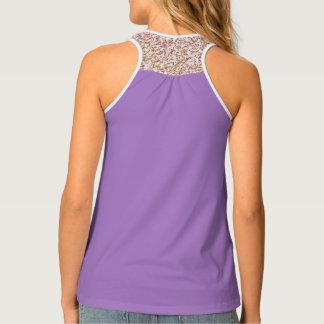 Solid, patterned, Lilac, designer activewear tank