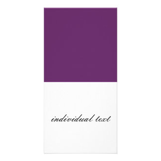 solid PLUM Personalized Photo Card