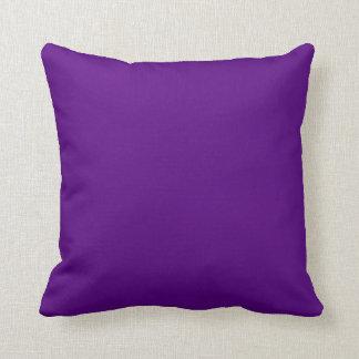 Solid Plum Purple Reversible Diamond Set Accent Throw Pillow