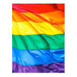 Solid Pride -Closeup of the Gay Pride Rainbow Flag Postcard