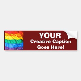 Solid Pride - Gay Pride Flag Closeup Bumper Sticker