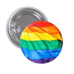 Solid Pride - Gay Pride Flag Closeup Buttons