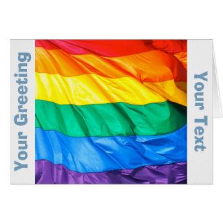 Solid Pride - Gay Pride Flag Closeup Greeting Card