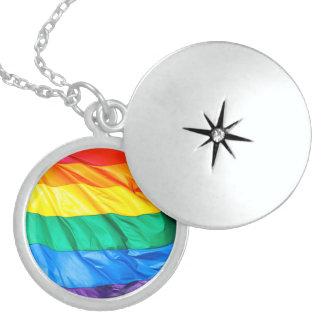 Solid Pride - Gay Pride Flag Closeup Pendants