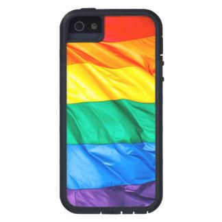 Solid Pride - Gay Pride Flag Closeup Tough Xtreme iPhone 5 Case