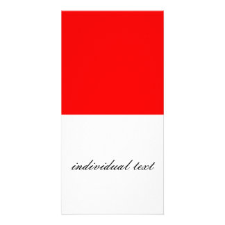 solid RED Custom Photo Card