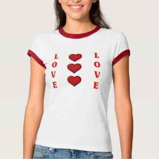 solid red love t shirts