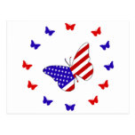 Solid Red, White & Blue Butterfly