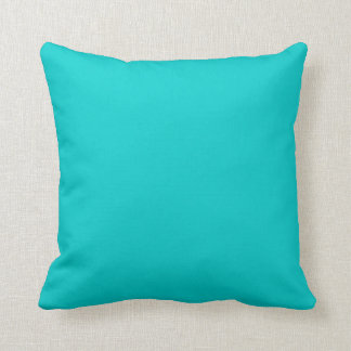 Solid teal blue  pillow cushion