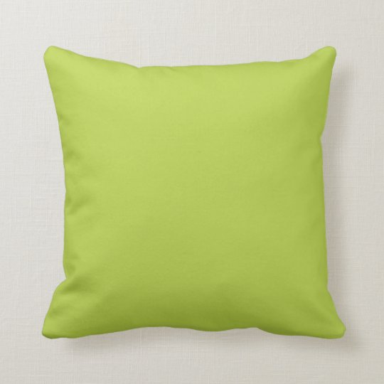Solid Tender Shoots Green Throw Pillows