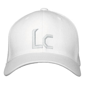 Solid White Lc Hat Embroidered Hat