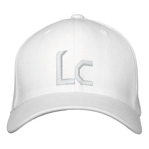 Solid White Lc Hat Baseball Cap