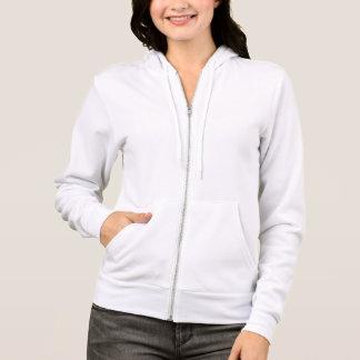 Solid White Women's Fleece Raglan Zip Hoodie