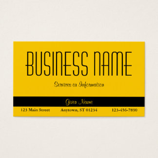 Solid Yellow Business Card