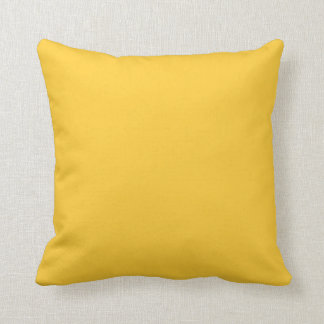solid yellow mustard ochore pillow