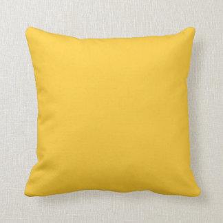solid yellow ochore pillow