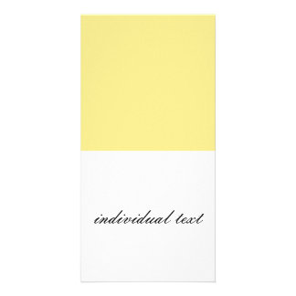 Solid YELLOW Customized Photo Card