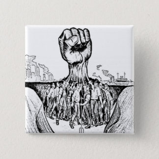 Solidarity 15 Cm Square Badge