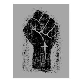 Solidarity Fist Grunge Distressed Style Postcard