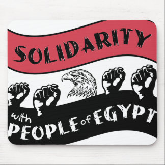 Solidarity with People of Egypt mousepad
