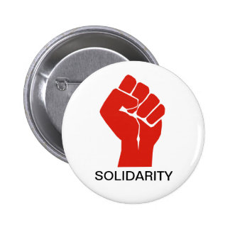 Solidarity With Wisconsin's Unions 6 Cm Round Badge