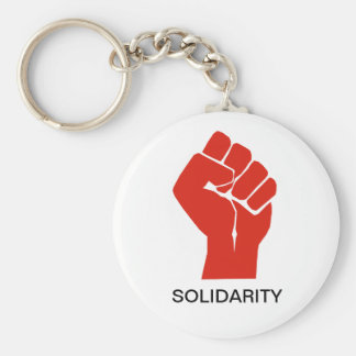 Solidarity With Wisconsin's Unions Basic Round Button Key Ring