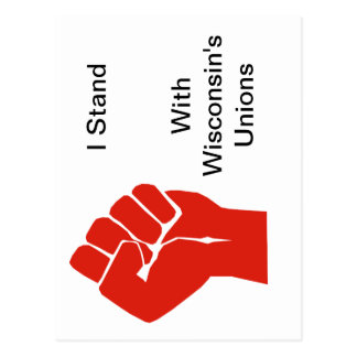Solidarity With Wisconsin's Unions Postcard