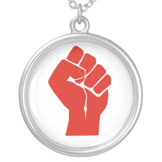 Solidarity With Wisconsin's Unions Round Pendant Necklace
