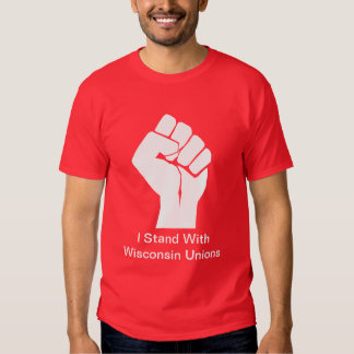 Solidarity With Wisconsin's Unions Tshirt