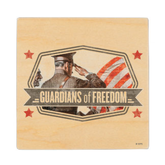 Solider-Guardian of Freedom Maple Wood Coaster
