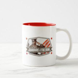 Solider-Guardian of Freedom Two-Tone Coffee Mug