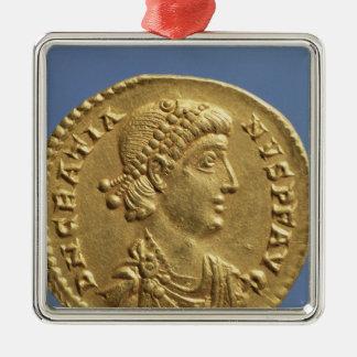 Solidus  of Gratian  draped Christmas Ornament