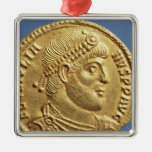 Solidus  of Julian the Apostate  draped Christmas Ornament