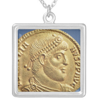Solidus  of Julian the Apostate  draped Silver Plated Necklace