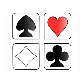 solitaire Cards Design Postcard