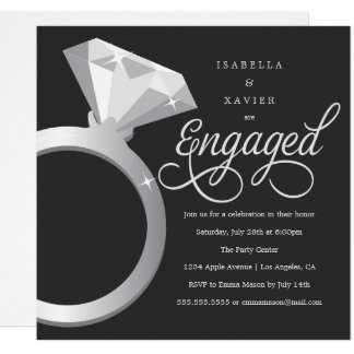 Solitaire | Custom Color Engagement Party Invite