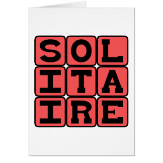 Solitaire, One-Person Card Game