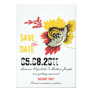 """Solitaire - Save the date cards 5"""" X 7"""" Invitation Card"""