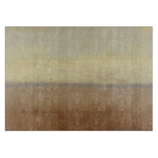 Solitary Desert Landscape by Norman Wyatt Cutting Board