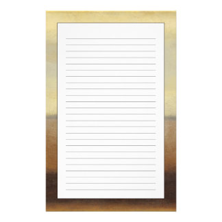 Solitary Desert Landscape by Norman Wyatt Personalized Stationery