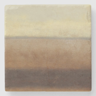 Solitary Desert Landscape by Norman Wyatt Stone Coaster