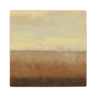 Solitary Desert Landscape by Norman Wyatt Wood Coaster