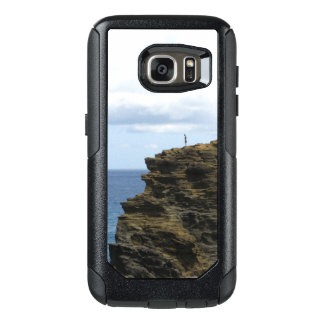 Solitary Figure on a Cliff OtterBox Samsung Galaxy S7 Case