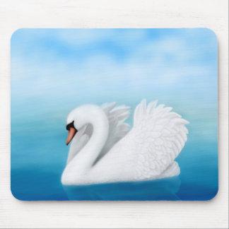 Solitary Mute Swan Mousepad